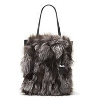 Michael Kors Large Eleanor Genuine Fox Fur Tote