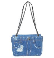 Mochino Denim Pockets Shoulder Bag