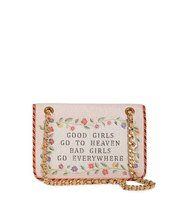 Moschino Good Girls Embroidered Flap Shoulder Bag
