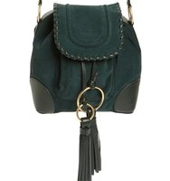 See By Chloe Small Polly Leather Bucket Bag Green
