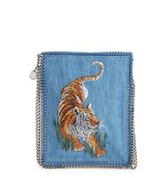 Stella Mccartney Embroidered Tiger Crossbody Bag