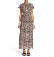 Tomas Maier Aster Print Silk Maxi Dress