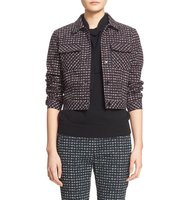 Tomas Maier Urban Grid Brushed Stretch Cotton Jacket
