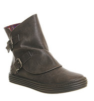 Blowfish Oil Buckle Boot Brown Texas