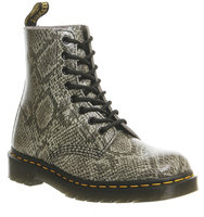 Dr Martens 8 Eyelet Lace Up Bt Light Grey Viper