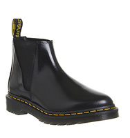 Dr Martens Bianca Low Shaft Zip Chelsea Black Polished Leather