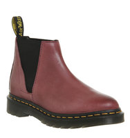 Dr Martens Bianca Low Shaft Zip Chelsea Wine Leather