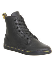 Dr Martens Eclectic Shoreditch 7 Eye Boot Black Leather