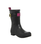 Joules Kelly Mid Welly Black Gloss