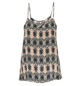 Feather Stone Mirage Print Silk Cami Top
