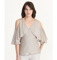 Ralph Lauren Cutout Shoulder Silk