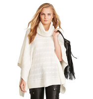 Ralph Lauren Polo Cable Wool Cashmere Poncho Collection