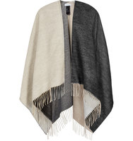 REISS Lomax Double faced Poncho in Black