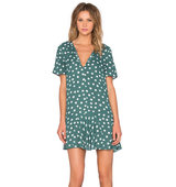 1 STATE Short Sleeve Dress in Green