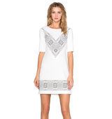 1 STATE T Shirt Shift Dress in Ivory