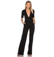 3x1 Plunge Neck Jumpsuit in Black