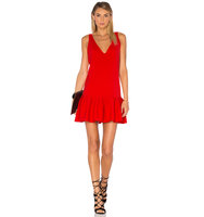 Amanda Uprichard Carrie Dress in Red