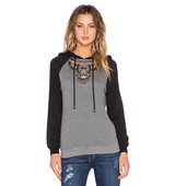 HEMANT AND NANDITA Embellished Hoodie in Gray