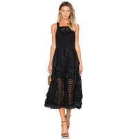 OLCAY GULSEN Heavy Lace Dress in Black