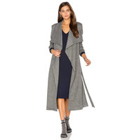 OLCAY GULSEN Jersey Duster Coat in Gray