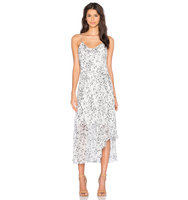 OLCAY GULSEN Printed Slip Dress in White