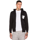 Undefeated Strike Undefeated Zip Hoodie in Black