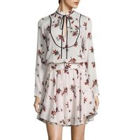 Alc Campbell Keyhole Detail Silk Dress