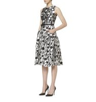 Carolina Herrera Floral Printed Mikado Dress