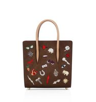 Christian Louboutin Paloma Small Embroidered Leather Tote
