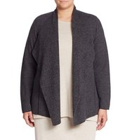 Eileen Fisher Plus Size Merino Wool Cardigan