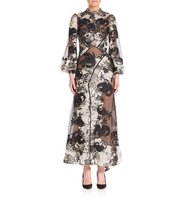 Erdem Briana Floral Jacquard Dress