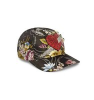 Gucci Embroidered Floral Silk Baseball Cap