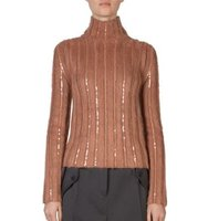 Nina Ricci Embellished Mohair Blend Turtleneck Sweater