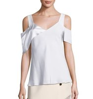 Prabal Gurung Solid Cold Shoulder Top