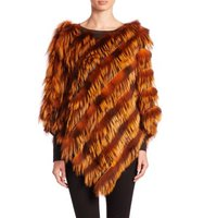 The Fur Salon Fox Fur Poncho