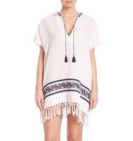 Tory Burch Swim Cotton Woven Beach Poncho