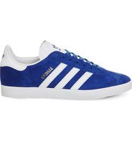 Adidas Gazelle Lace Up Suede Trainers Royal white