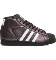 Adidas Pro Model Glossy Leather Trainers Glossy black white