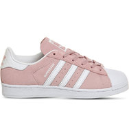 Adidas Superstar 1 Suede Trainers Pink white snake