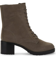 Aldo Crowl Leather Ankle Boots Grey nabuck