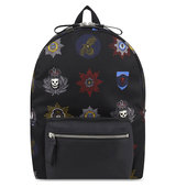 Alexander Mcqueen Badge Print Backpack Black mult blk blk