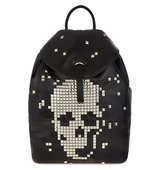 Alexander Mcqueen Exploded Skull Leather Backpack Black
