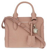 Alexander Mcqueen Reptile Embossed Mini Leather Shoulder Bag Light pink