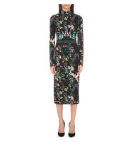 Alice Olivia Delora Stretch Jersey Dress Mythical green