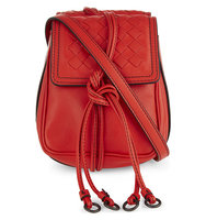 Bottega Veneta Double Leather Cross Body Bag Vesuvio