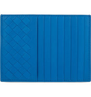 Bottega Veneta Intrecciato Leather Long Credit Card Holder Peacock blue