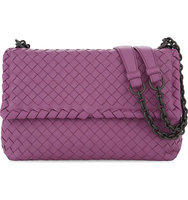 Bottega Veneta Olimpia Intrecciato Small Leather Shoulder Bag Peony