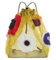 Christopher Kane Mesh Pouch Crochet Bag Sunflower