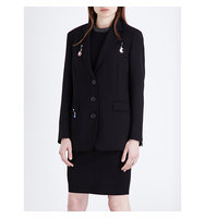 Christopher Kane Oversized Wool Jacket Black