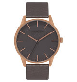 Classic Rose Gold Toned Stainless Steel and Leather UN15TC17 Watch rose